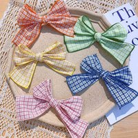 Barrettes Hairpin Ins Style Girl Fabric Plaid Bow Korean Top Clip Versatile Mori Adult Hair Accessories