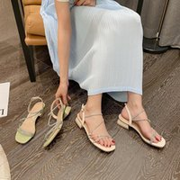 Sandalet Kadın Sandal Konfor Ayakkabı Kadınlar Için Ayak Bileği Kayışı Açık Toe Blok Topuklu Med 2021 Yaz Kızlar Rhinestone Bej Moda Peep C