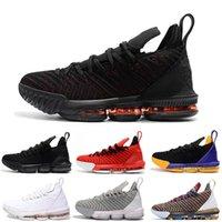 شعبية مصمم رجل 16 رجل كرة السلة أحذية ما الثلاثي الأسود الطازجة bred ليكرز الأحمر رجل رياضي رياضة رياضة 7-12 للبيع