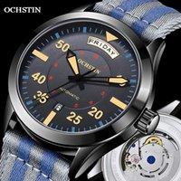 ساعات رجالية الحديثة 2021 التلقائي الميكانيكية ساعة اليد العسكرية الفاخرة Ochstin تاريخ أسبوع عرض مزدوج الهدايا للذكور المعصم