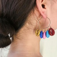 Hoop & Huggie Women's Earrings Multicolor Natural Shell Pendant Beach Holiday Female Elegant Jewelry Accessories Vintage Women Earring