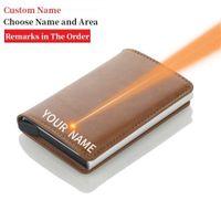 wallet 2020 Blocking Credit Card Holder Mens Cardholder Case Metal RFID Aluminium Business Minimalist Travel Card Wallet