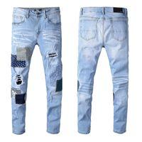 AMN Jeans Итальянские бренд мужские джинсы 2021 новая мода высокого качества мужчин дизайнерские классические джинсы черные брюки мужские джинсы
