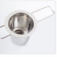 Reutilizável de aço inoxidável de aço inoxidável Infusor Filter Cesta dobrável Tea Infuser Basquete Tea Filtro para Bule CCA9198 541 S2