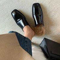 Le pantofole per capelli delle donne possono essere abbinate in tutte le stagioni BASIC casual Heel Heel Wear Fuori Dimensione nera bassa 33-40