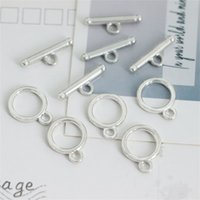 10 sets Edelstahl OT Clacs Connectors für DIY Armband Halskette Schmuck Fundungen Herstellen Zubehör Großhandel viel Masse 1507 Q2