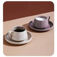 Mugs Coffee Cups Modern Design Porcelain Cup Saucer Ceramics Simple Mug European Style Light Luxury Espresso Drinkware For Tea