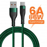 6A 66W USB Type C Cable For samsung S10 S 20 Micro USB C Fast Charging Data Cable Wire cord For Xiaomi POCO X3 M3 1 2M