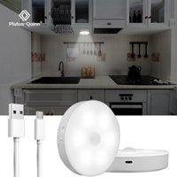 Luzes do sensor de movimento LED USB recarregável conduzido sob a luz do armário para o guarda-roupa do armário do armário do quarto das escadas da parede da luminária da parede da luminária da parede