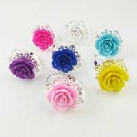 Belle serviette de fleur Rose Anneaux de serviettes d'or Hoops Couleurs Romantique Nice Nice Gearing Party Fête Fournitures Rh8751