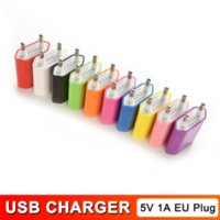 OEM Quality Real 5V 1A 5W EU Plug Adapter USB Wall Travel Charger for iphone ipad Samsung Xiaomi Huawei