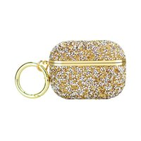 Bling Airpods Pro Cases Earphone Cover Keychain glitter Diamond shockproof Gold Luxury for Airpod Case