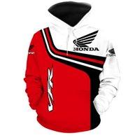 2021 Nuova Honda Motorcycle Racing Mens Felpa con cappuccio Felpe 3D Stampa digitale con cappuccio Pullover Modo Giacca casual Abbigliamento sportivo casual