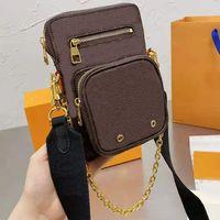 2021 Newest Stye Bags Bags Bolsteet Moda de lujo Mensajero Bolsa Mujeres de alta calidad Diseñador de cuero Bolso Exquisito Caja original