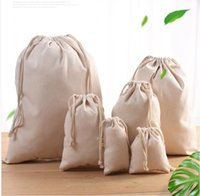 Gift Wrap Pouches Drawstring Bags Cotton Reusable Travel Pouch Vegetable Storage Backpack Tote Packing Bag Can be Screen Printed Machine Washable