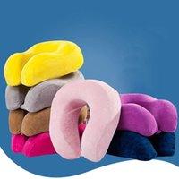 Мягкая памятельная пена U в форме подушка для путешествий медленный отскок для офисного снабжения головы отдыха воздух шеи подушки / декоративные