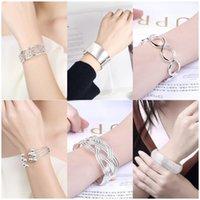 Bangle Pure Silver Bangles For Women Wide Geometric Wrist Bracelets & Pulseras Mujer European Style Jewelry Accessories Bijoux