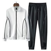 Men's Tracksuits Men Outfit Set Sweat Suits Sets Casual Sportswear Tracksuit Fashion Sweatshirt 2PCS Jacket+Pants Young Male