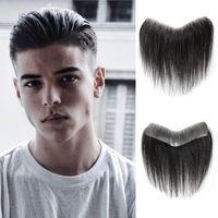 Synthetische Perücken Dianqi Front Toupee Transparente Natürliche Haaransicht Männer V Schleife Haar Männliche Perücke