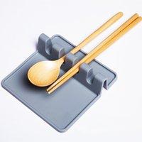 Silicona utensilio cuchara resto soporte de sopa goteo almohadilla cocina herramientas estufa organizador utensilios estantería almacenamiento accesorio gwe6278