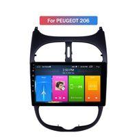 Écran tactile Double 2 Din Android DVD DVD pour Peugeot 206 Auto GPS Système de navigation Vidéo Stéréo Stéréo Audio