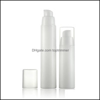 Per Bottle Fragrance Deodorant Health & Beauty15Ml 30Ml 50Ml White Empty Plastic Shampoo Cosmetic Sample Containers Emsion Lotion Airless Pu