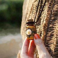 """Стеклянная бутылка ароматерапия эфирное масло диффузорующее ожерелье медальон кулон ювелирные изделия с 24 """"цепью и 3 моющиеся ne577 859 q2"""