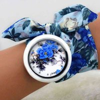 Designer Brand Brand Orologi Shsby Design Design Ladies Flower Ploth Ploy Fashion Donne Dress Dress Abito in tessuto di alta qualità orologio Dolci ragazze