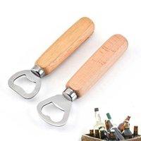 Ahşap Saplı Şişe Açacağı Paslanmaz Çelik Tirbuşon Şarap Bira Açacakları ZZA3379