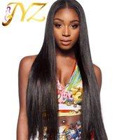 Peruvian human Hair Wigs 100% Hand Tied Full Lace Wig Straight Medium Brown Lace Lace Front Wigs With Leached Knots