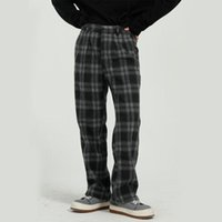 Streetwear maschio hip hop pant stile corea stile vintage moda pantaloni da uomo casual plaid dritto vestito pantaloni da uomo