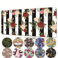 Mouse Pads & Wrist Rests Super Creative Gaming Mousepad PU Leather Office Pad Flower Pattern Computer Soft PC Desk Mat
