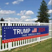 50*250CM Tube Trump 2024 Flags US Presidential Campaign Election Banner Accessories Keep America Great Letters Printed Garden House Flag gG49KY08