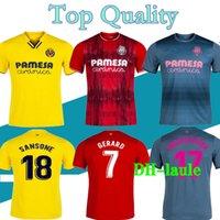 Tailandia 21 22 Villarreal cf Home Soccer Jerseys 2022 Camicie rosse Gerard Paco Alcacer Chukwueze Camiseta Dia A. Uppraza Yeremi Blue Football Uniform