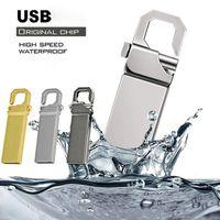 USB Flash Sürücü 128 GB 64 GB 32 GB 16 GB 8 GB 4 GB Kalem Sürücüler Metal U Disk Memoria Cel Sopa Hediye