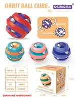 The latest ball track decompression fidget toy pinball finger gyro novelty intellectual creative toys