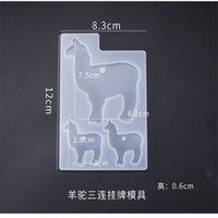3pcs cristallo epossidica resina stampo elefante alpaca orso portachiavi casting stampo in silicone set fai da te artigianato gioielli pendente pendente che fa strumenti 1405 q2