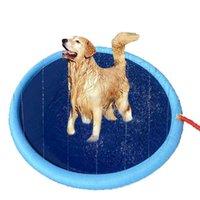 Penne Kennels 170 * 170 cm Pet Raffreddamento Mat Dog Play Play Sprinkler Pad Piscina Piscina Gonfiabile Acqua Stuoia per acqua Vasca Vasca da bagno Estate Cool Vasca