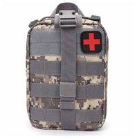 Portátil Outdoor Travel First Aid Kit de primeros auxilios Bolsa de medicina a prueba de agua Hogar al aire libre Pequeña enfermera Caja de la enfermera de emergencia Caja de supervivencia divertida Cintura de la cadera Paquetes de cinturón