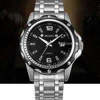 ساعات المعصم Wlisth Steel Belt Watch Explosion نماذج رجالية مقاومة للماء التقويم مضيئة الأعمال الكوارتز Watch19