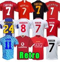 Retro soccer jersey United 07 08 90 92 94 96 98 99 2002 man final home 1994 1998 RONALDO BECKHAM CANTONA KEANE SCHOLES GIGGS Manchester UTD