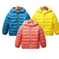 Bebé niños chaquetas otoño invierno niños niñas cálidas livianas capucha abrigo niños ropa exterior 2-7 y Ropa infantil para niños pequeños 210914