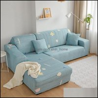 Towel Textiles Home & Gardentowel Printed Elastic All-Inclusive Can Set Simple Modern L-Type Combination Leather Cushion Non-Slip Type Drop