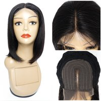 4x1 T Dentelle Human Hair Perruques Bob Style Pièce centrale droite 10 12 14 Perruque indienne 16 16 pouces