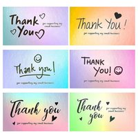 Thank You Cards With Watercolor Design For Supporting My Small Business Online, Retail Stores, Handmade H051 Gift Wrap