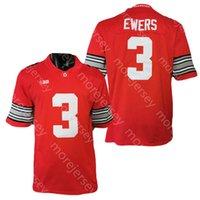 NCAA College Ohio State Buckeyes Football Jersey Quinn Ewers Red Size S-3XL Alle genähten Stickerei