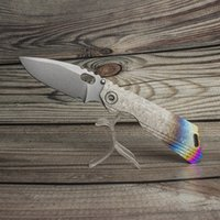 EVIL EYES customized folding knife SNG DDC nice crystalline titanium alloy handle high hardness m390 blade pocket knives tactical camping hunting EDC tools