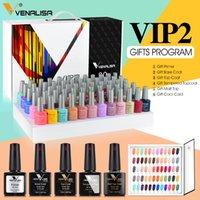 71508K Venalisa 65 Pcs Gel Polonês Set VIP2 5 Series Base Primer Temperado Top Coat 60 Cores Kit de Cor