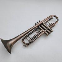 Margewate Marka BB Tune Trompet Antika Bakır Kaplama Profesyonel Enstrüman Durumda Ağızlık Golves Aksesuarları