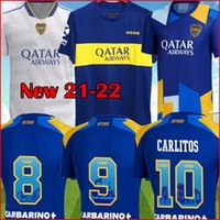 Boca Juniors Soccer Jersey 2021 2022 Carlitos Maradona Tevez de Rossi 21 22 Sports Football Shirt Men + Kids Kit مجموعات موحدة الصفحة الرئيسية الثالثة الثالثة